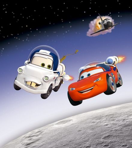 "Disney bedroom wallpaper ""Space Cars"""